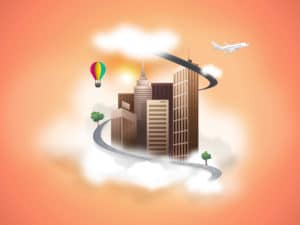 City Cloud Vector Template