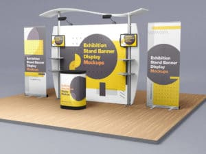Exhibition Stand Banner Display Mockups