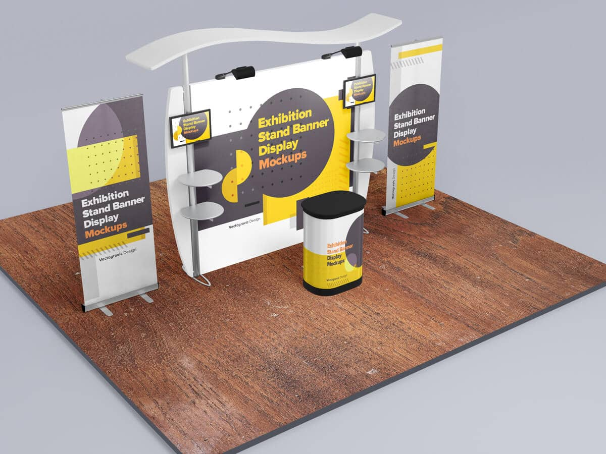 Exhibition Stand Banner Display Mockups