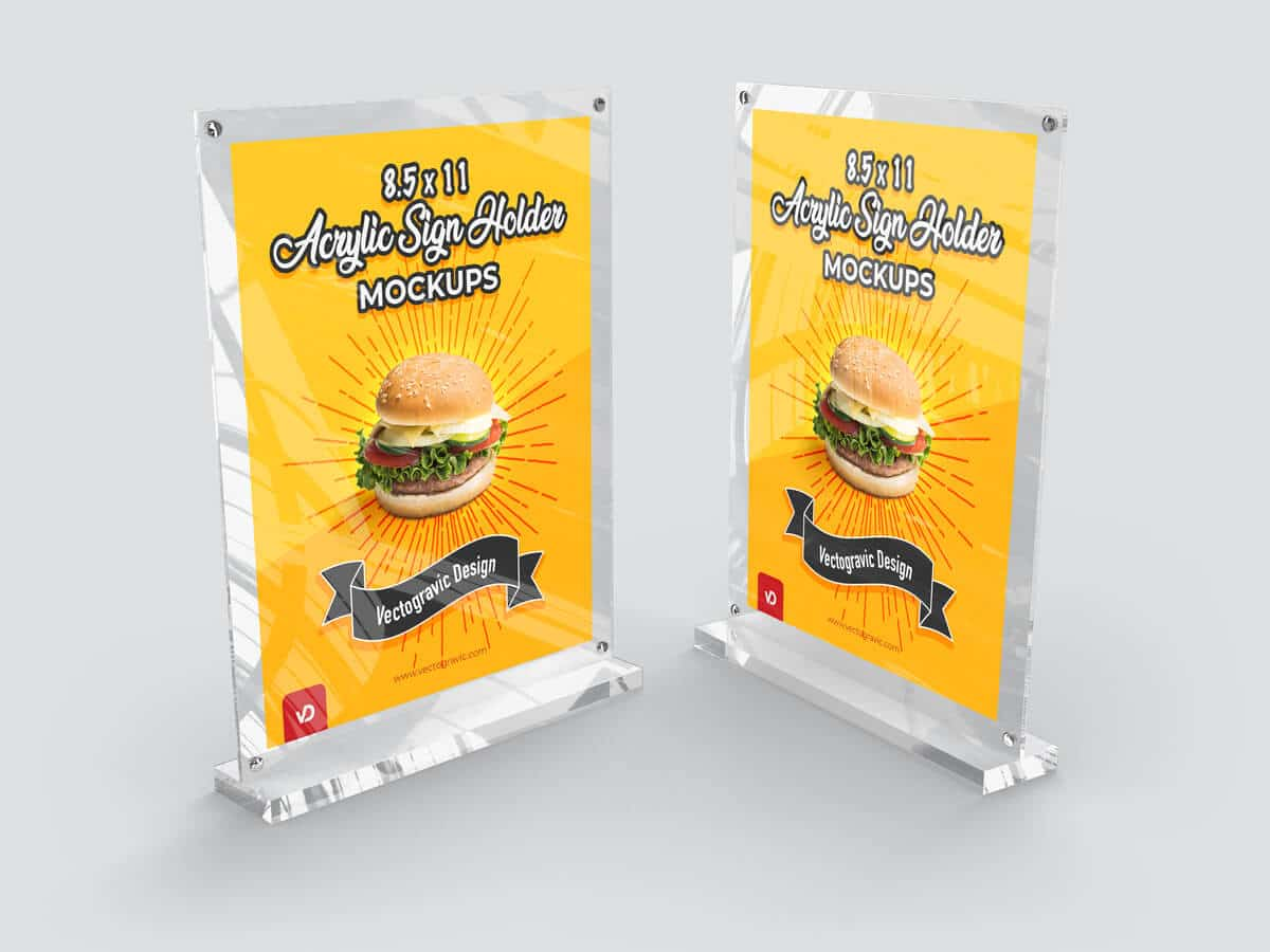 8.5 x 11 Acrylic Sign Holder Mockups 02