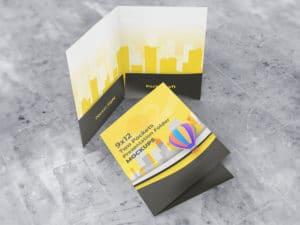 9×12 Presentation Folder with two pockets mockups