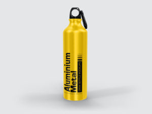 Aluminium Metal Drink Bottle Mockups