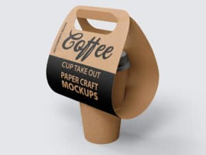 Coffee Cup Take Out Paper Craft Mockups