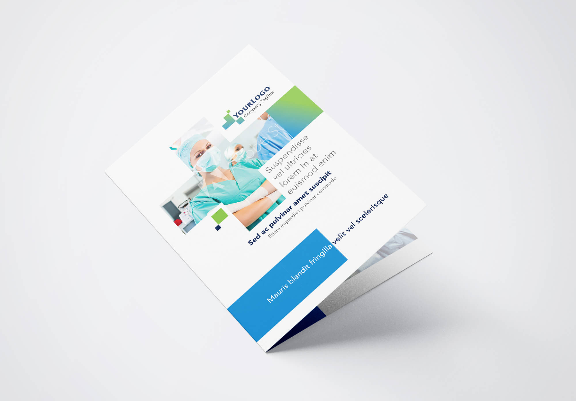 Half Fold Surgical Brochure Template 01