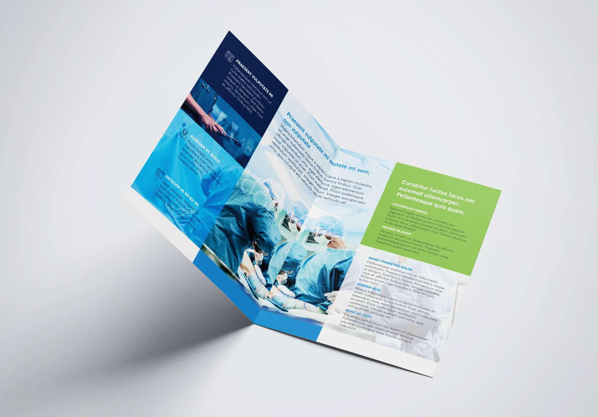 Half Fold Surgical Brochure Template 03