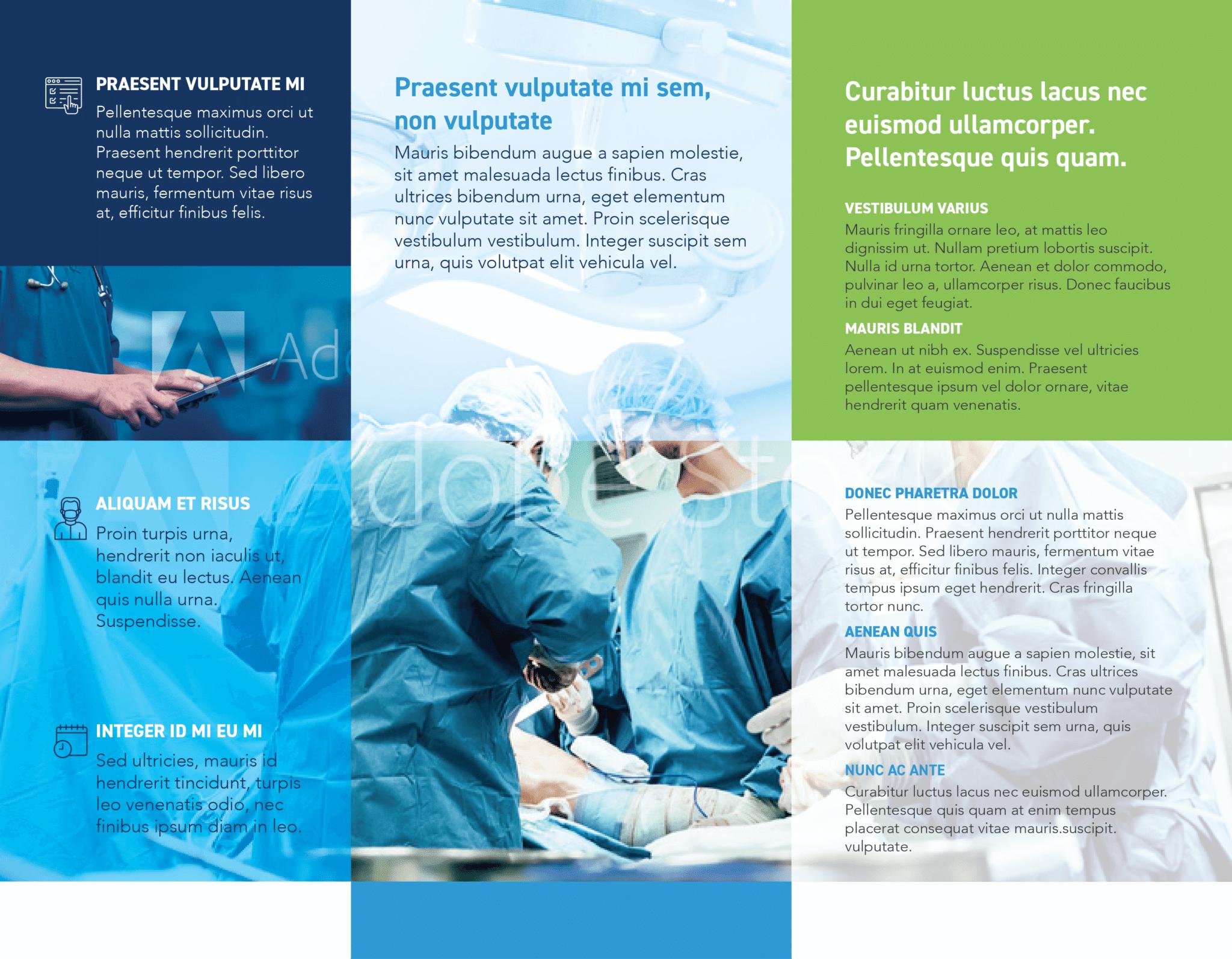 Half Fold Surgical Brochure Template Inside