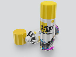 Paint Spray Can Free Mockups