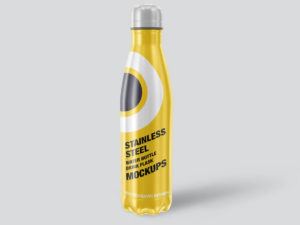 Stainless Steel Water Bottle Mockups