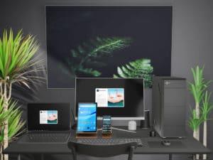 Free Working Desk Mockups