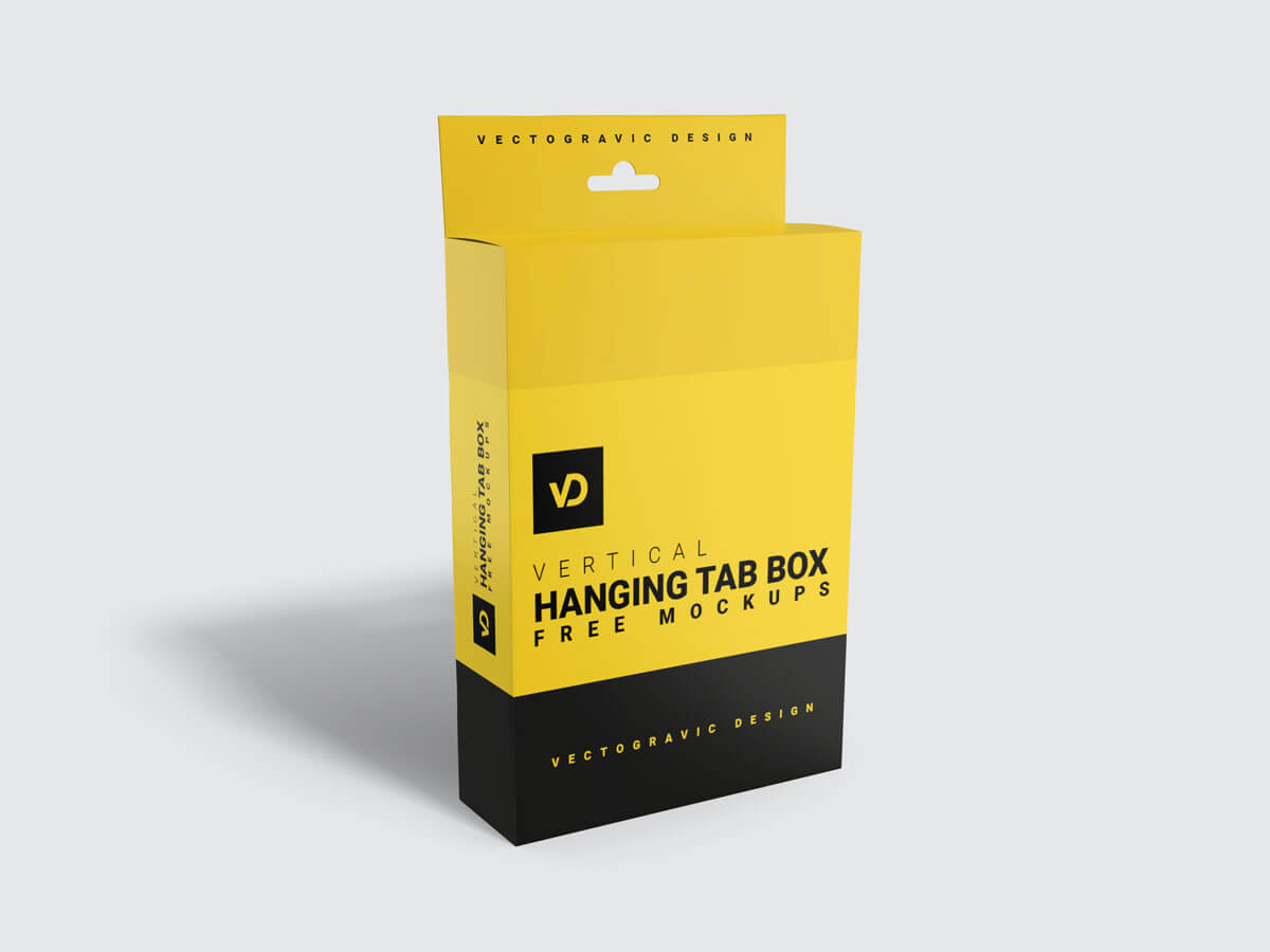 Hanging Tab Box Packaging Mockups 01