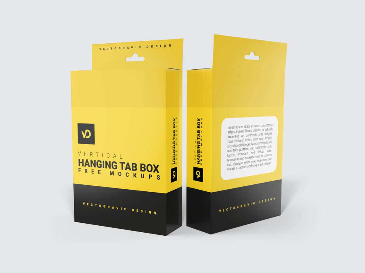 Hanging Tab Box Packaging Mockups 02