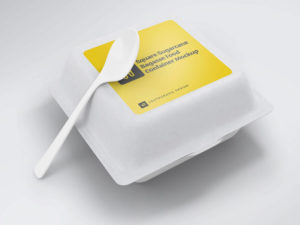Square Sugarcane Bagasse Food Container Free Mockups