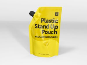 Plastic Stand Up Pouch Packaging Mockups
