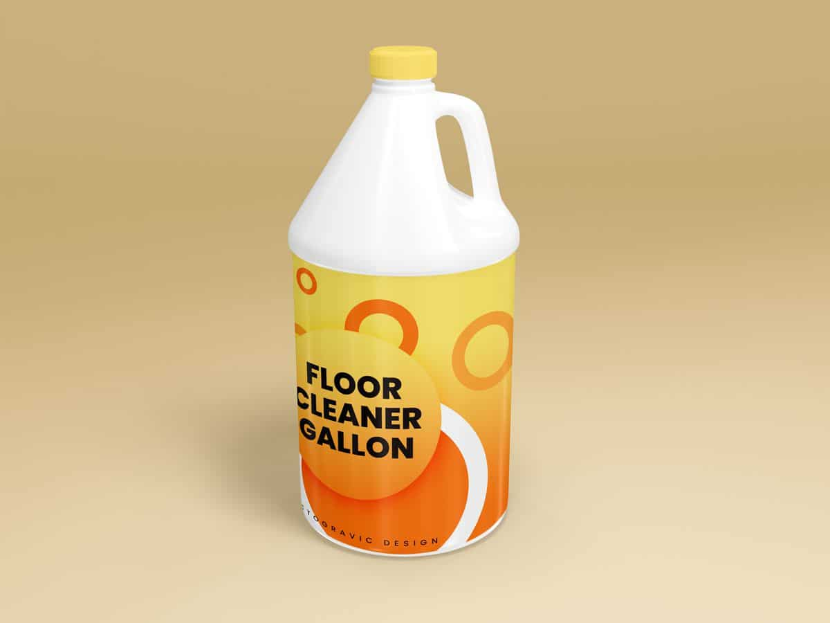 Floor Cleaner Gallon Container Mockups