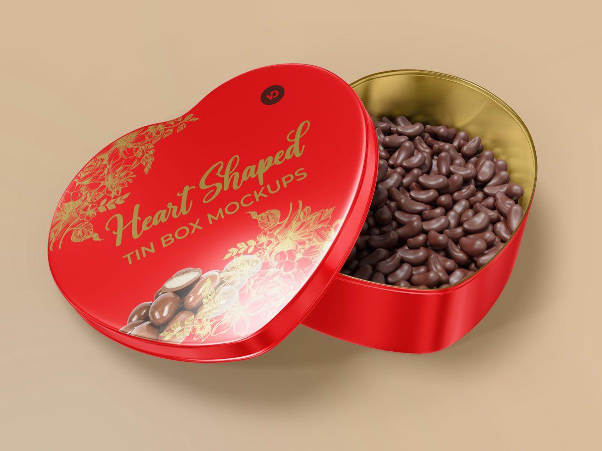 Heart Shaped Tin Box Mockups 02