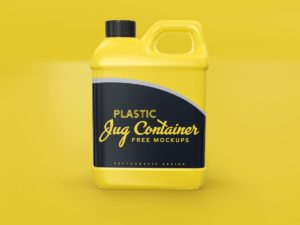 Plastic Jug Container Free Mockups